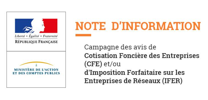 note info CFE IFER